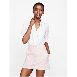 NWT Express Lace-Up Patch Pocket Mini Skirt {C}